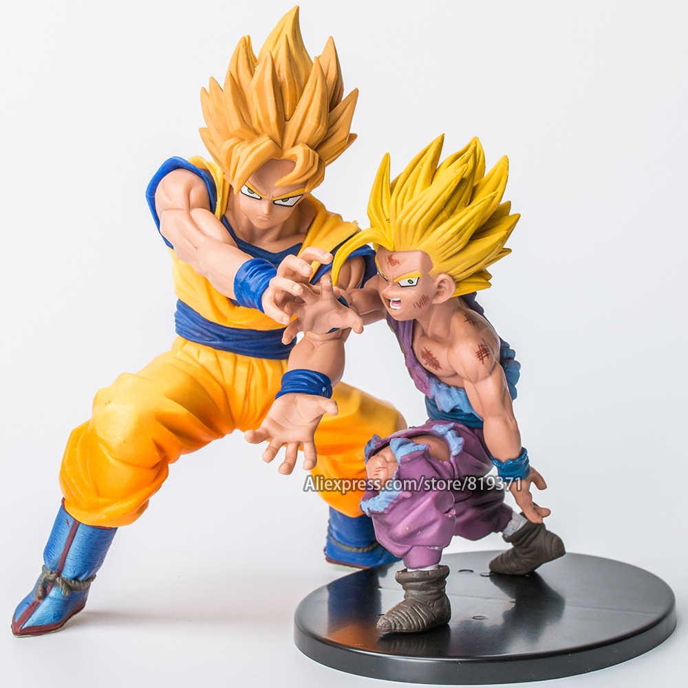 Dragonball z super saiyan filho goku filho gohan pai e filho batalha célula anime figura de ação brinquedos dragon ball z figuras