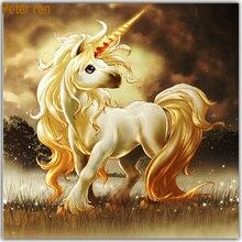 Diy Diamond embroidery sale painting unicorn 3d Square mosaic full Anime Painting rhinestones Pegasus