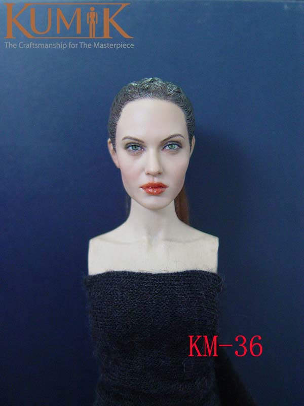 kumik 2012 Classic beauty Stars head carved DIY 12 doll Replace head  Exquisite beauty faces  1/6 doll Replaceable accessories kumik 2013 the latest head carved brings together a variety of stars head shape and faces1 6 doll head replaceable accessories