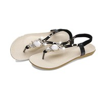 Women Shoes New Fashion Women Sandals Elastic T-strap Bohemia Beaded Owl Slipper Flat Sandals Women Summer Shoes Flip Flops hengjia 70pcs hard metal lead fishing lures wobbler jigs fishing baits sea sinking lures pesca fishing tackles