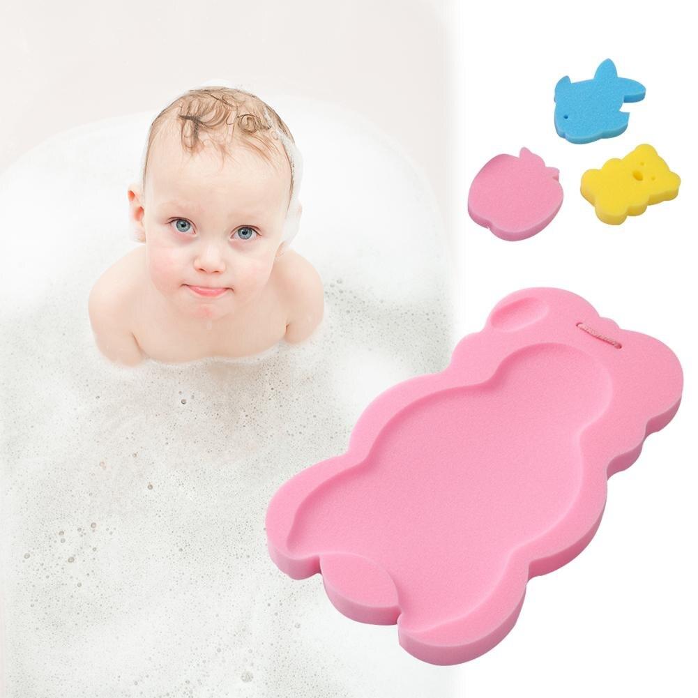 Onverdroten Baby Bad Holder Antislip Bed Baby Douche Spons Kussen Cartoon Badmat Pasgeboren Baby Douche Netten Bad Pad 3 Kleuren