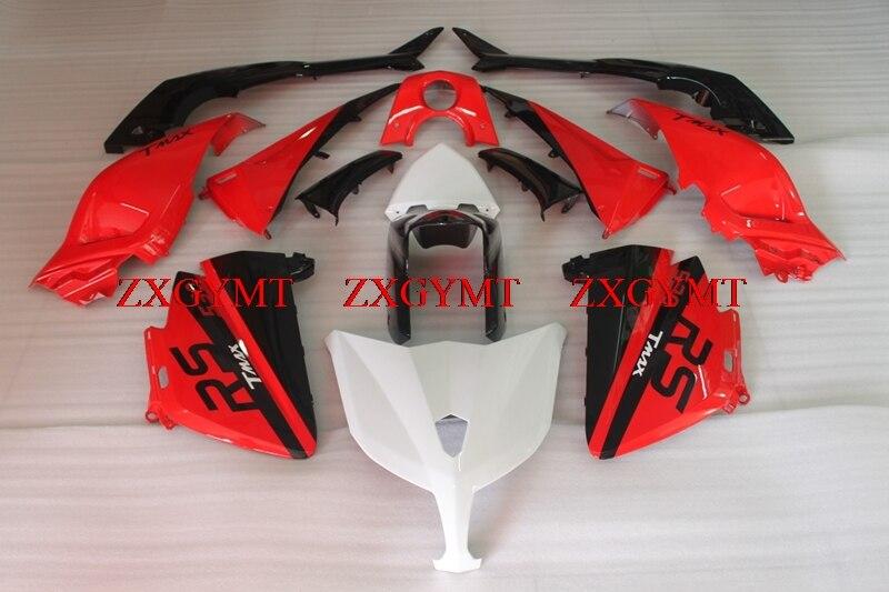 Abs Fairing for T-MAX530 2013 - 2014 Fairing Kits T-MAX530 14 Black Red White Body Kits TMAX 530 14Abs Fairing for T-MAX530 2013 - 2014 Fairing Kits T-MAX530 14 Black Red White Body Kits TMAX 530 14