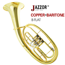 Free shipping JAZZOR JZBT-310G Professional baritone horn B Flat Gold lacquer Baritone brass wind instrument with mouthpiece