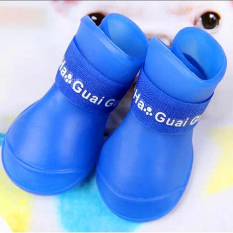 2 çift köpek ayakkabı moda hayvan botları su geçirmez patik köpekler yağmur kauçuk renkli ayakkabı köpek malzemeleri evcil hayvan ürünleri QB671124