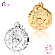 1PCS 925 sterling Silver Le Petit Prince pendant France Fairytale cartoon soild silver for children Gifts Jewelry making