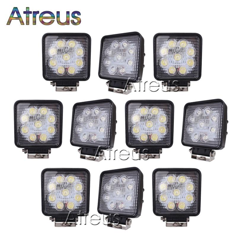 Atreus 10Pcs 4Inch 27W yüksək güclü 9X 3W kvadrat işıq - Avtomobil işıqları - Fotoqrafiya 1