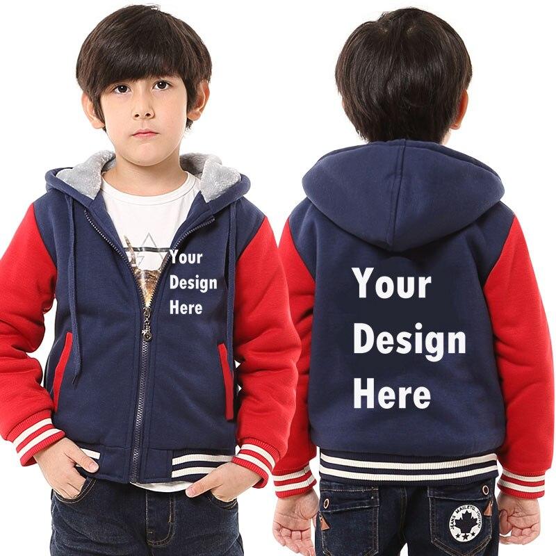 NEW Children Custom Print Logo Design Kids Boys Girls Hoodies Sweatshirts DIY Prosonalized Customize Winter Hoody Drop Shipping