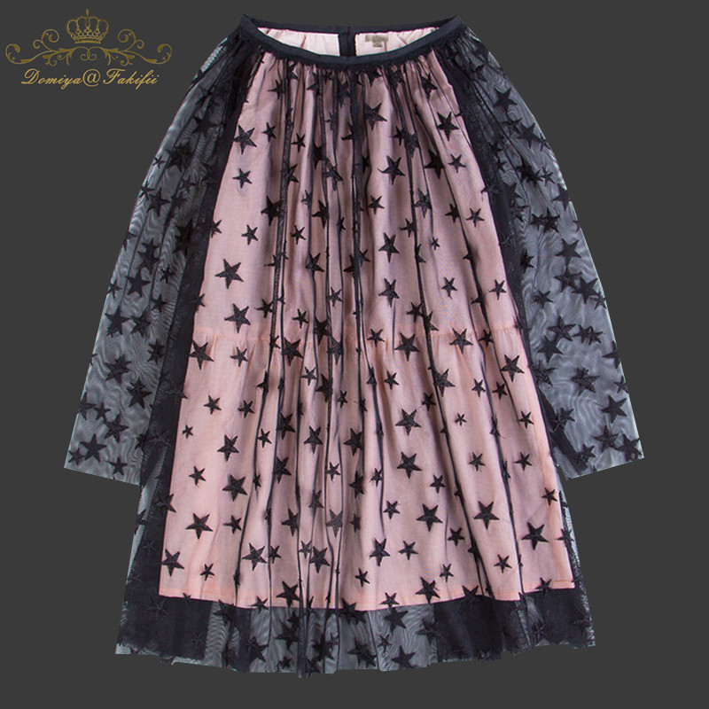 Kids Dress for Girls Wedding Tulle Star Embroidery Mesh Girl Dress Elegant Princess Party Pageant Formal Gown for Teen Children цена