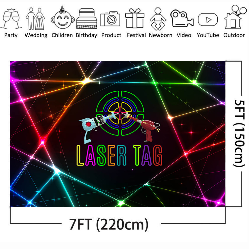Outstanding Mehofoto Laser Tag Themed Backdrop For Photography Laser Gun Boy Birthday Cards Printable Riciscafe Filternl