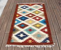 100% India imported handmade woven wool wool exotic national wind bedroom carpet Indian tapestry 37gc149yg4