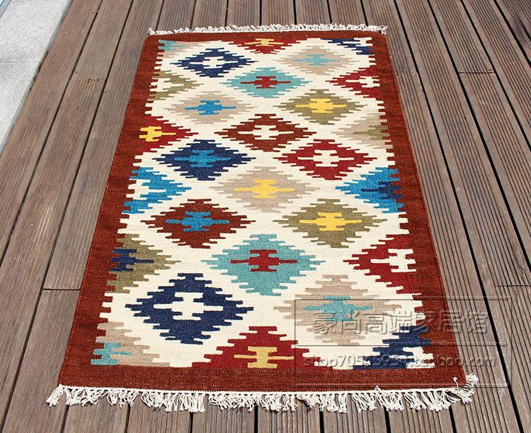 100% inde importé à la main laine tissée exotique national vent chambre tapis indien tapisserie 37gc149yg4