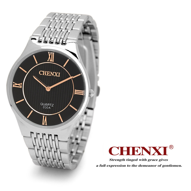 100% New Real Japan Core Silver Stainless Steel No Fade Quartz Dress Wristwatches Wrist Watch for Men Women