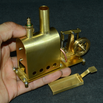 11.3 X 4.5 X 10CM Mini Pure Copper Steam Engine Model With Boiler Creative Gift Set For Kids Adults High Quality