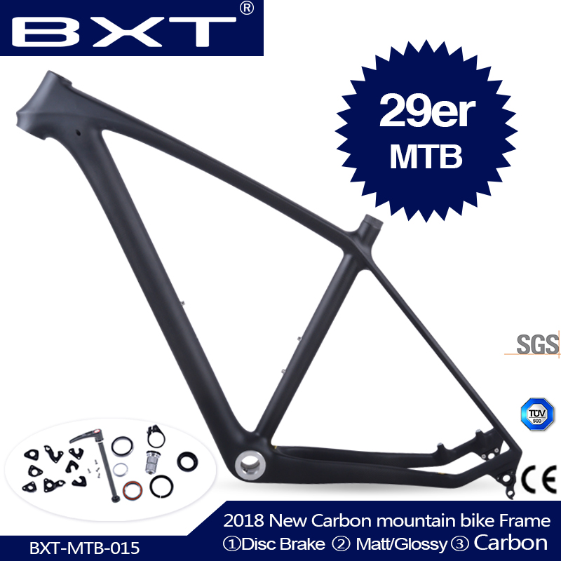 2018 BXT Brand T800 Carbon Mtb Frame 29er Mtb Carbon Frame 29 Carbon Mountain Bike Frame 142*12 Or 135*9mm Bicycle Frame(China)