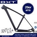 2018 BXT бренд T800 углерода <font><b>mtb</b></font> рама 29er <font><b>mtb</b></font> углеродная рама 29 углерода крепежная рама для горного велосипеда 142*12 или 135*9 мм раме велосипеда