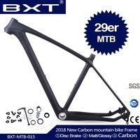 2018 BXT 브랜드 T800 탄소 mtb 프레임 29er mtb 탄소 프레임 29 탄소 산악 자전거 프레임 142*12 또는 135*9 미리메터 자전거 프레