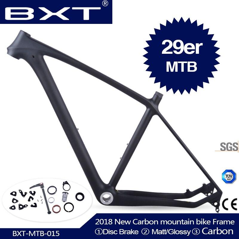 2018 marca BXT 29 T800 mtb quadro de carbono 29er mtb quadro de carbono de carbono quadro de bicicleta de montanha 142*12 ou 135*9mm quadro da bicicleta