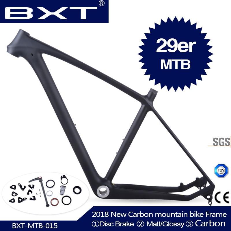 2019 BXT marque T800 carbone vtt cadre 29er vtt carbone cadre 29 carbone VTT cadre 142*12 ou 135*9mm cadre de vélo