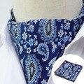 LJT0105 Cavalheiro Floral Paisley Lenço De Seda Quadrado Bolso Gravata dos homens Casual Vestido de Jacquard Lenço Lenço de Tecido Partido Set