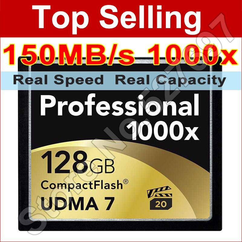 Prix pour Livraison Gratuite En Gros 32 GB 64 GB 128 GB Carte CF UDMA Compact Flash Carte Mémoire Haute Vitesse 1000x Pour Appareil Photo REFLEX numérique