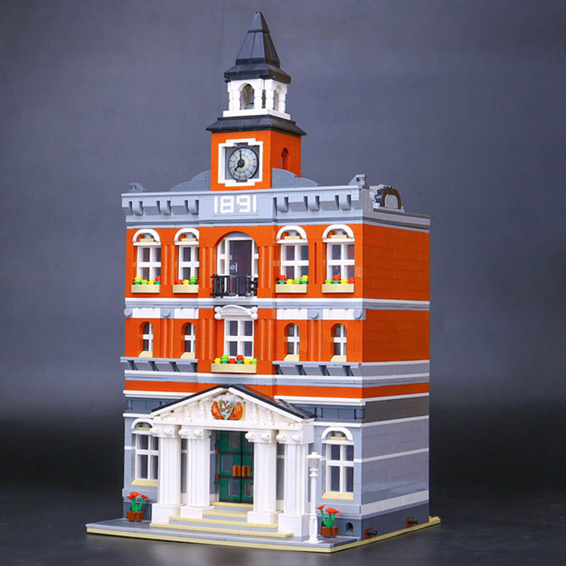 Lepin 15003 Creators The Town Hall Model legoing 10224 Building Kits Toys Gift Compatible for children Assemble Building Blocks cubicfun 3d puzzle paper building model assemble gift diy baby toy the hall of supreme harmony world s great architecture mc127h