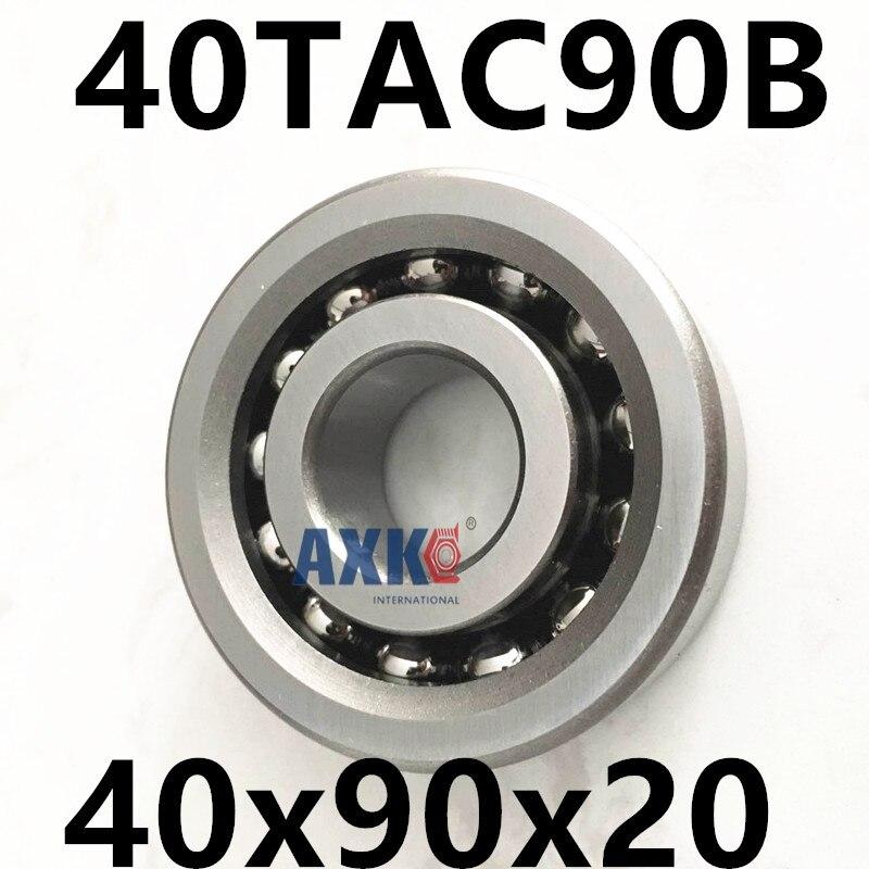 1pcs 40TAC90B 40 TAC 90B SUC10PN7B 40x90x20 AXK  High Speed High Load Capacity Ball Screw Support Bearings 1pcs 17tac47b 17 tac 47b suc10pn7b 17x47x15 mochu high speed high load capacity ball screw support bearings