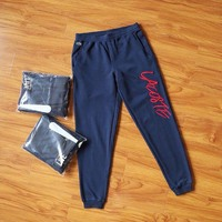 Men blue Sports Running Pants Pockets Athletic Football pant Training sport Pants Elasticity jogging