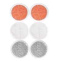 6 Packs 2039A Spinwave Bissell 2124 Buhar için Ağır Fırçalama Paspas Pedleri Yıkanabilir süpürme Ped mop pedleri bez değiştirme