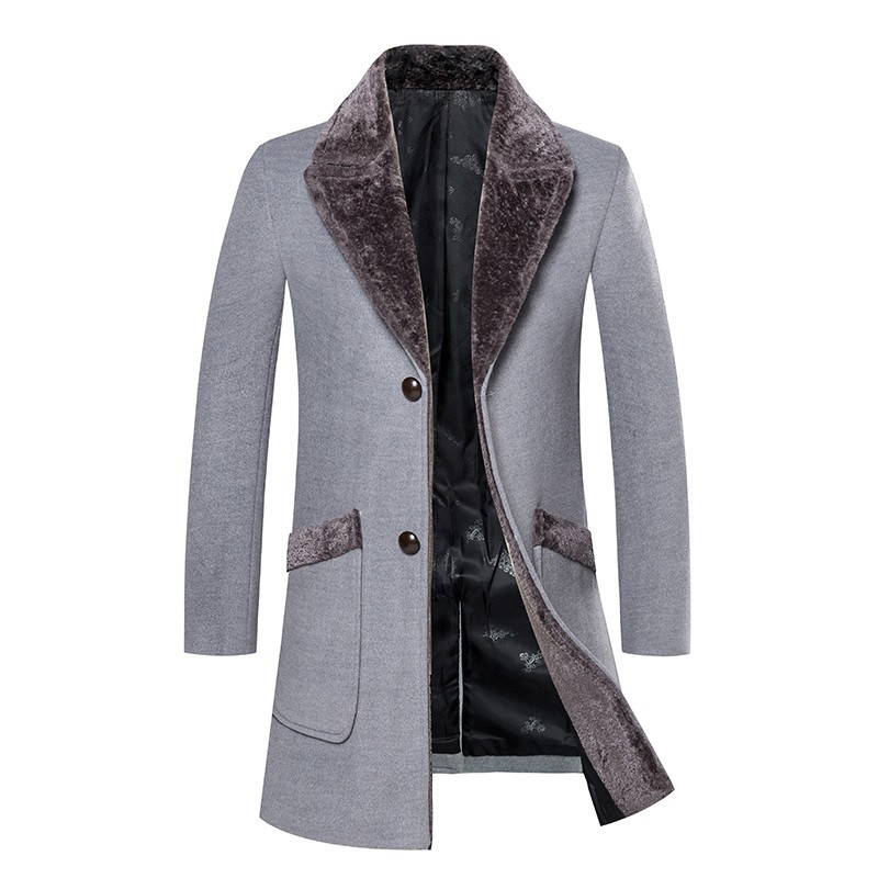 Men Coat Woolen Winter Casual Trench Jacket/business-Wool Thick Men's High-Quality Warm
