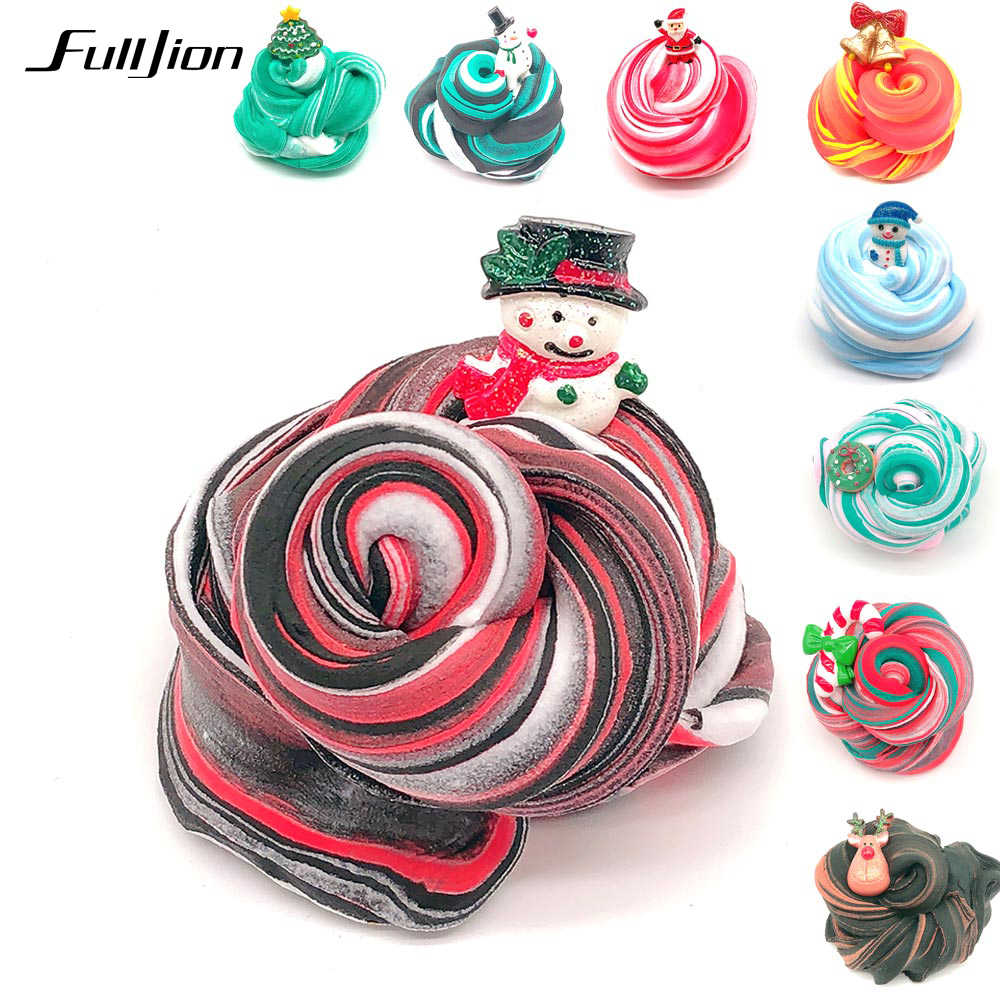 Fulljion Stretch Cloud Soft Slime Christmas Modeling Clay Polymer Fimo Plasticine Putty Handgum Stress Relief Toys Supplies Gift