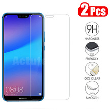 2Pcs/lot Full Tempered Glass For Huawei P20 Lite Screen Protector  Pro P10 Honor 8 9 10 8X