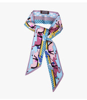 Horse Fashion Lady High Grade Silk Twilly Scarves Bags Handbag Scarf Small Ribbon Hair Band Bandeaus