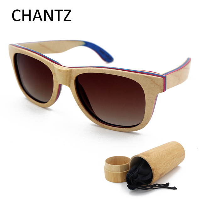 aab17996ff High Quality Skateboard Wood Polarized Sunglasses Women Men Brand Designer  2018 White Frame Matel Spring Hinge Lunette De Soleil