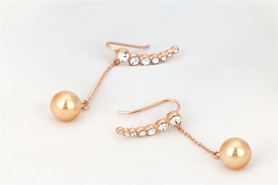 b PISSENLIT Diamond Long Drop Earrings Gold Silver Earrings Women Jewelry Wing Elegant Korean Jewelry Pearl Earring Accessories