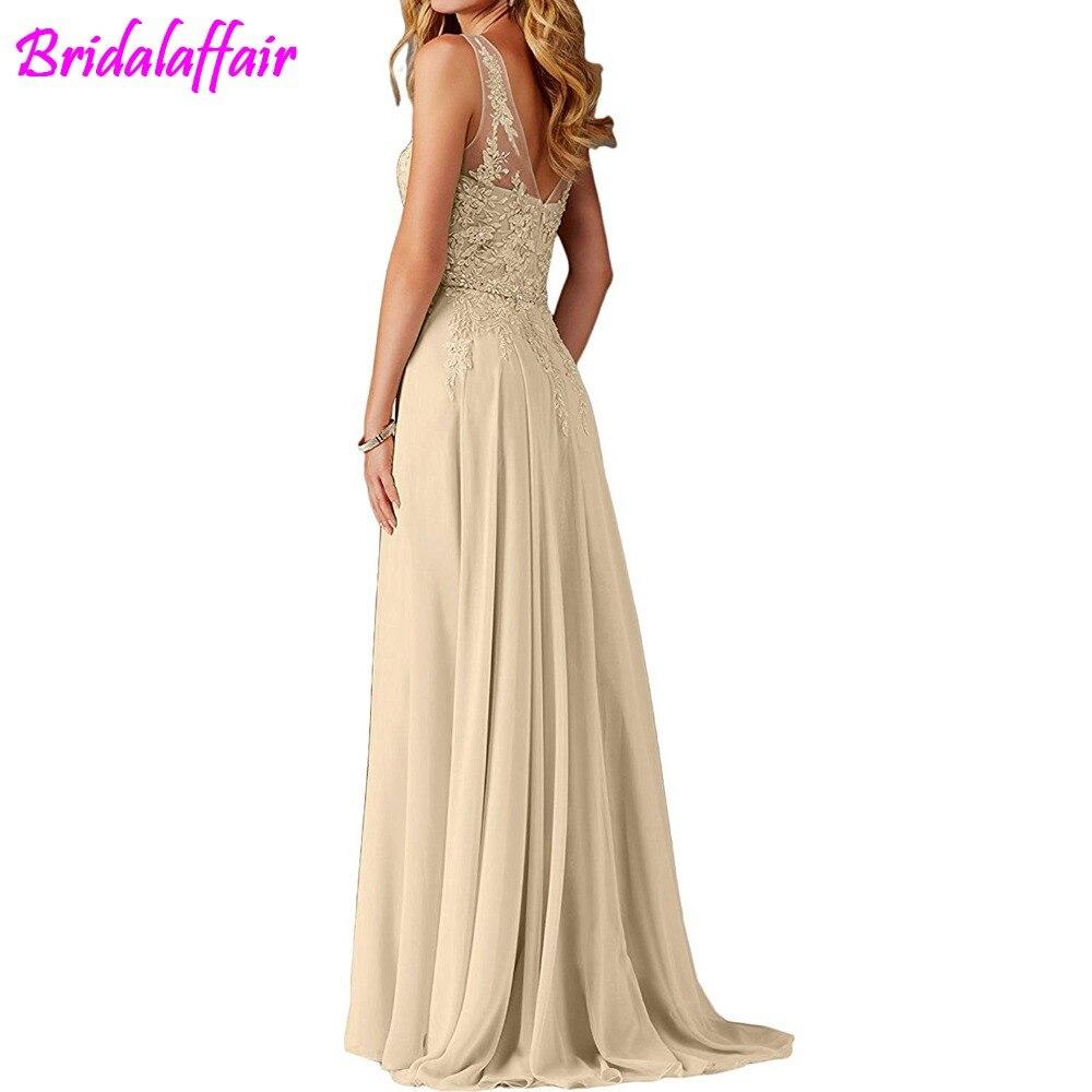 Femmes col en V Appliques robe de bal longue perlée robes de soirée élégantes femmes robes formelles robe de soirée longue - 2