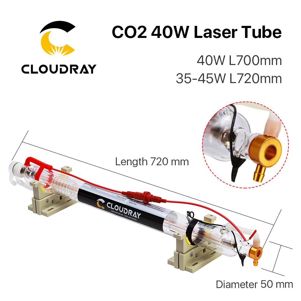Cloudray Co2 Glass Laser Tube 700MM 40W Glass Laser Lamp para CO2 - Piezas para maquinas de carpinteria - foto 2