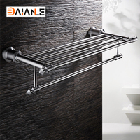 Bathroom Towel Rack Stainless Steel Brushed wall mount towel Holder towel Shelf acessorios