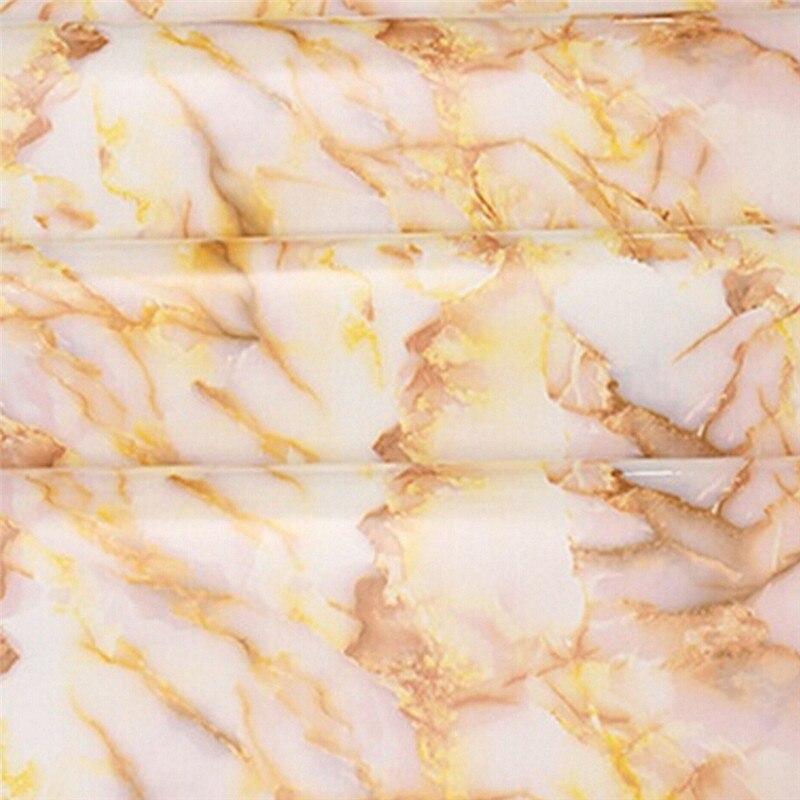 pelcula de vinilo decorativo del gabinete de cocina encimera de mrmol brillante diy pvc wallpaper home decor etiq