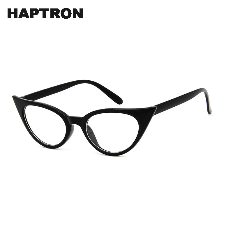 9dee0fce4c HAPTRON Fashion Vintage cat eye Eyeglasses Women Glasses Frames Brand  Optical Clear Glasses Black oculos okulary-in Eyewear Frames from Women s  Clothing ...