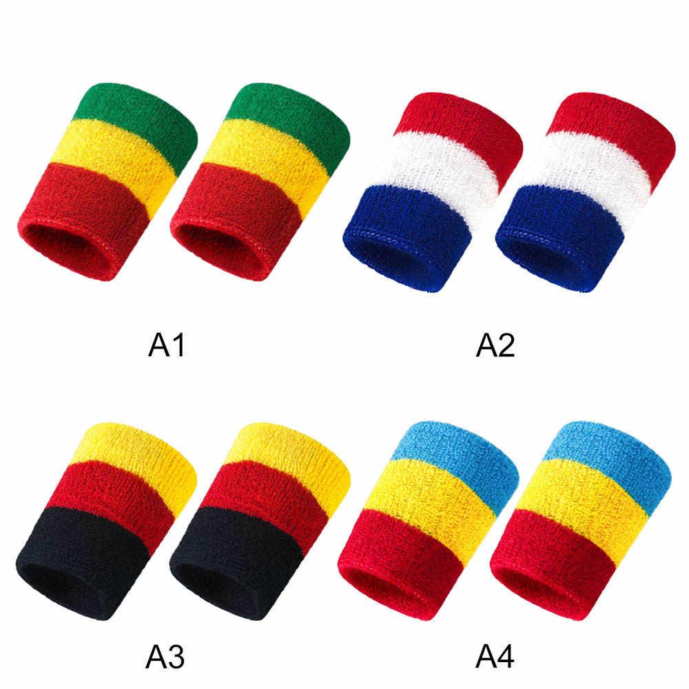 Elástica de deporte venda pulsera apoyo pulsera absorbente de sudor de baloncesto toalla guardia muñeca sudor banda Fitness levantamiento de pesas