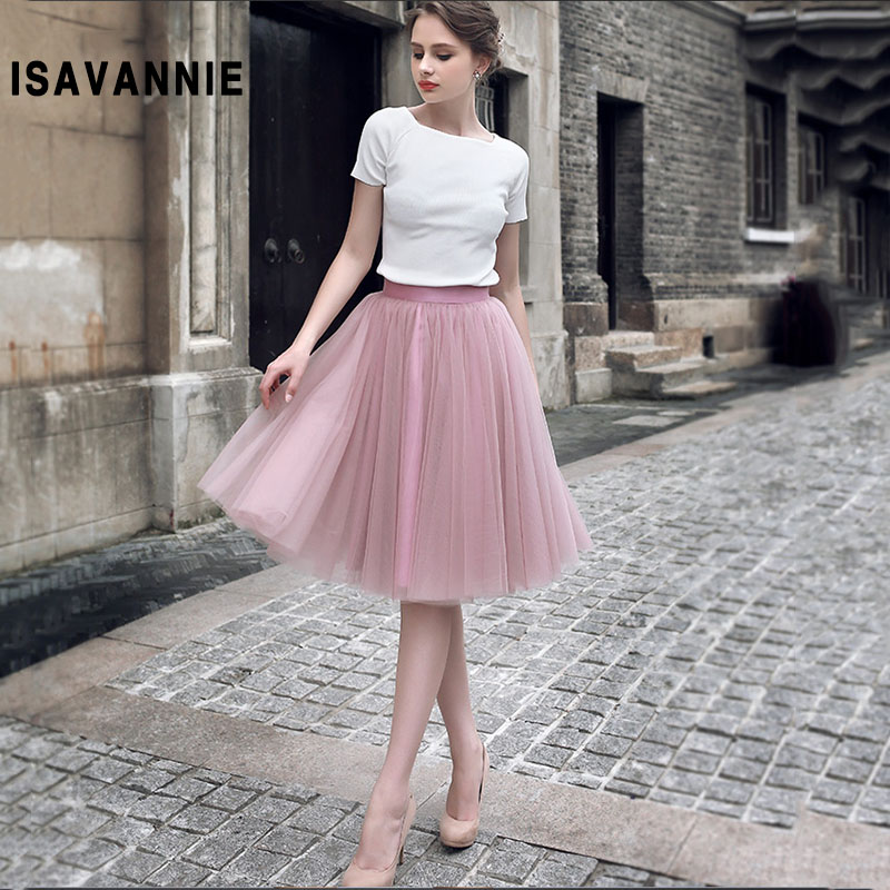 0de9c1ca3 € 22.5 |Alta calidad Mauve 5 capas muy suave tul falda oculta cremallera  adultos tutú mujeres estilo alta cintura Saia Jupe Ball vestido 2018 en ...