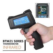 BSIDE Бесконтактный инфракрасный термометр цветной жидкокристаллический дисплей цифровой термометр типа K(-30-550 C