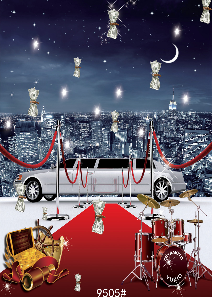 SJOLOON Stage photography backdrops party photogrpahy background city photography backdrops fond photo studio vinyl props 5x7ft