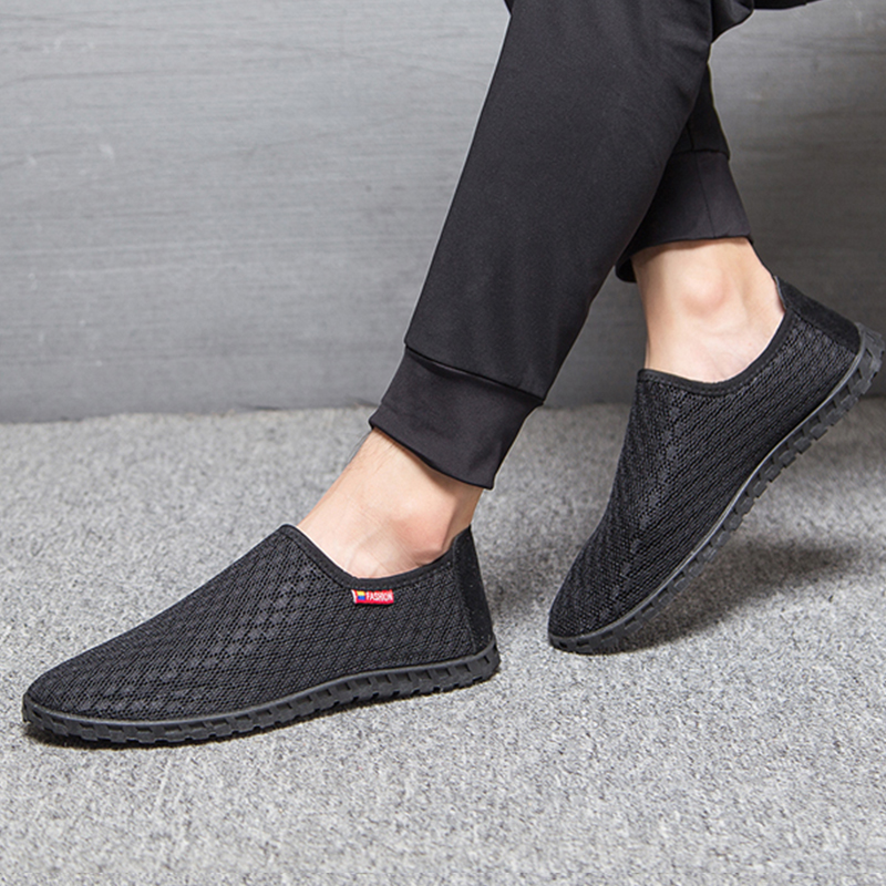 2017 Autumn Casual Shoes Men Loafers Lazy Network Shoes Male Foot Wrapping Breathable Shoes Men's Flats Drop Shipping Size 38-45 tangnest summer couple casual shoes lazy mesh network shoe men foot wrapping big size 34 46 slip on breathable shoe