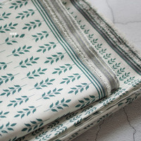 Cotton and linen home curtain cushion tablecloth photo props handmade diy fabric leisurely green leaves