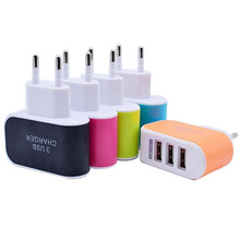 5V 3.1A 3 Ports USB Phone Charger AC/EU Plug Universal Fast Charging Mobile Wall Charger For Android Iphone Smart Phones iPad