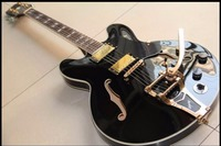 Wholesale Cnbald Jazz Guitar ES 335 ES355 1959 Model Electric Guitar W Bridge Bigsby In Black