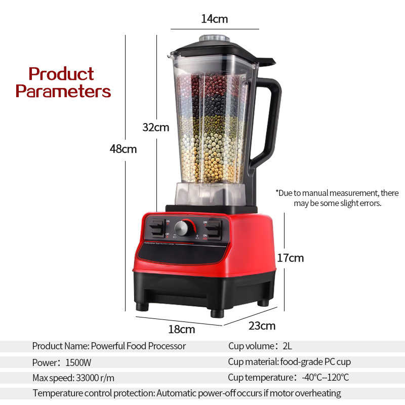 VIDA TINTON 33000R/M BPA LIVRE da Classe Comercial Casa Profissional Smoothies Poder Batedeira Liquidificador Espremedor de Alimentos Processador de Frutas