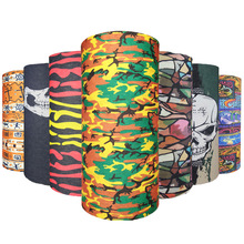 30pcsY Wholesale Cheap Bandanas Seamless Scarf Mens Spring Summer Skull Head Band Women Fall Neck Ring Scarves Mens Tube Muffler