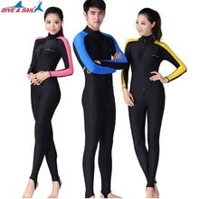 DIVE SAIL UPF 50+ Lycra Diving Wetsuit Scuba Snorkeling Diving Suit Men Women Rash guard UV Sun Protect Long Sleeve Swimwear